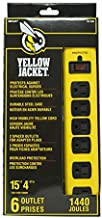 Yellow Jacket 5138N 5138 Metal Surge Protector Strip with 6 Outlets and 15 Foot Cord, Ft