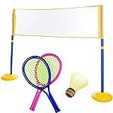 LOVEHOUGE Red de bádminton, portátil para voleibol de tenis con bolsa de transporte, juguetes educativos al aire libre, fácil configuración (120 x 95 x 25 cm)