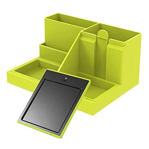 RHNE Soporte para bolígrafo multifunción de 4,2 Pulgadas Tablero de Escritura LCD Tablero de Escritura a Mano Escritorio de Oficina Tablero de Escritura Creativo y de Moda Negro + Verde