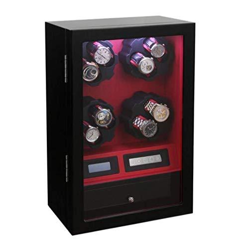 FFAN 8+5 Holz-Uhrenbeweger mit acht Geschwindigkeiten, automatisch Rotierender Aufzug elektrische Uhr Winderkasten rotierende Schaukelvorrichtung Nice Family