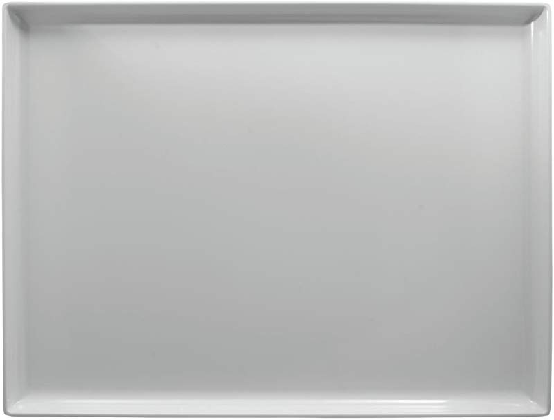 White Plastic Display Merchandising Tray Melamine Rectangular 20 L X 14 W X 1 1 2 H