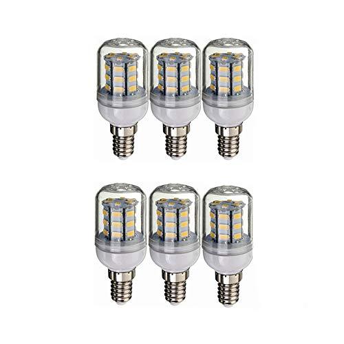 Bombilla LED 12V 24V LED E14 Bombilla, DC 12V-80V 4W, 260-300lumen de 360 Grados for RV Camper Marina, luz Solar y de Rejilla, el Paquete de 6 iluminante Bulbo (Color : Cool White)