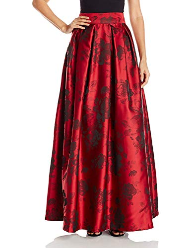 Jessica Howard Women's Pleated Ballgown Separate Skirt with Inset Waistband, Red/Black, 14