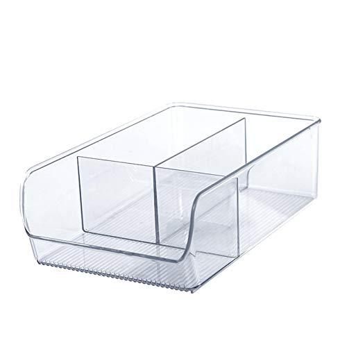 Hanton Caja de almacenamiento grande para escritorio, cesta de almacenamiento, caja multifunción, bolígrafo con 3 compartimentos, notas adhesivas, papel, clips, pintalabios, joyas, color transparente