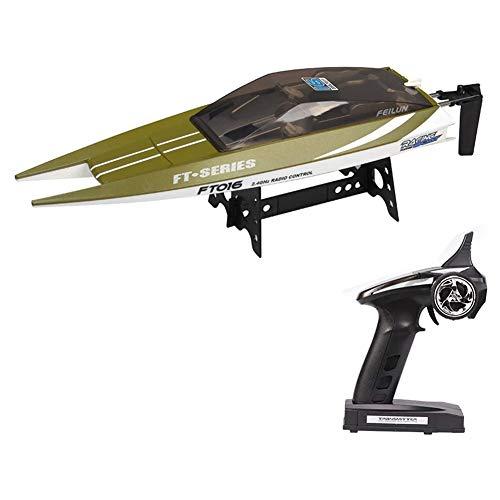 GRTVF Súper gran barco de control remoto barco de velocidad de alta velocidad, barco de carreras sin escobillas de alta potencia, modelo de juguete eléctrico para niños, reinicio automático después de