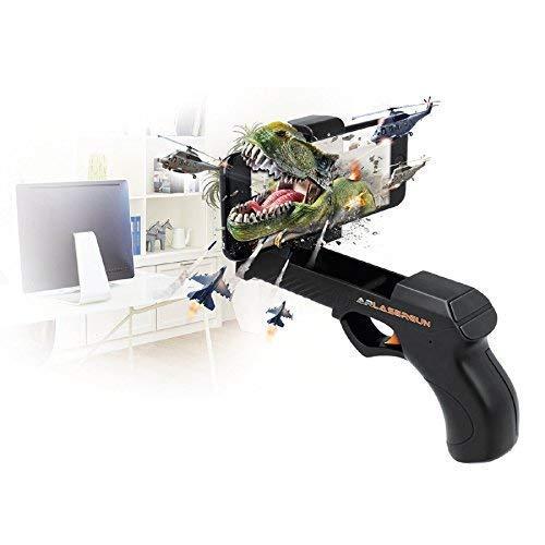 Forever AR lasergun GP de 110 Aumentada de Reality Gun Pistola láser Arma para Bluetooth Video Juegos interactivos con el Smartphone Soporte para teléfono móvil: Amazon.es: Electrónica
