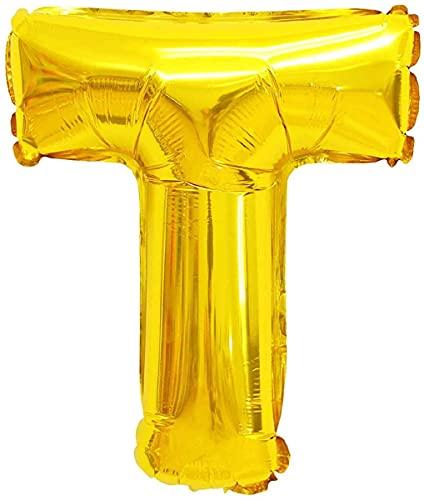Yuna Palloncini Lettere Numeri Nomi Grandi Compleanno Nascita Laurea Battesimo (T, Oro/Gold, 80 cm)