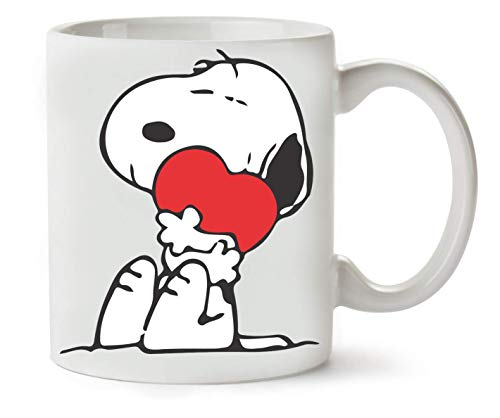 ANDRS Snoopy In Love Hear Design Klassische Teetasse Kaffeetasse