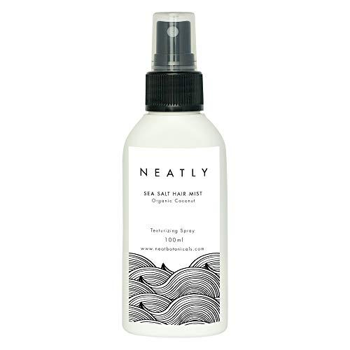 Olio sale marino per capelli by Neatly | Spray sale marino con olio al magnesio e olio essenziale agrumi e olio di cocco per capelli 100 ml