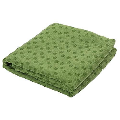 Liadance Hot Yoga Mat De Toallas Absorbentes del Sudor Antideslizante para Hot Yoga Toalla Manta con Grip Puntos Verdes