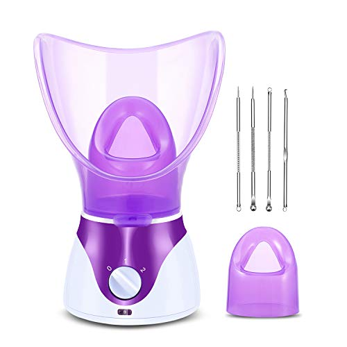 Zenpy Nano Ionic Facial Steamer Hot Mist Face Steamer Home Sauna SPA Face Humidifier Atomizer for Women Men Moisturizing Cleansing Pores with...