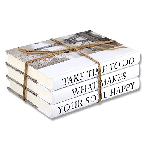 3 Piece Take Quote Decorative Book Set,Fashion Decoration Book,Real Blank Hardcover Book For Decor | Fashion Designer Quote Books,Fashion Design Book Stack, Display Books For Coffee Tables And Shelves