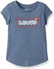 Levi's Batwing Camiseta de Manga Corta Azul Marino para Niñas