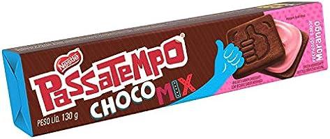 Biscoito, Chocomix, Morango, Passatempo, 130g