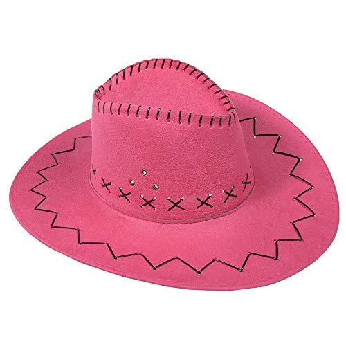 Miobo Cowboyhut Westernhut Cowgirl australien Texas Cowboy Hut Hüte Western (One Size, Pink)