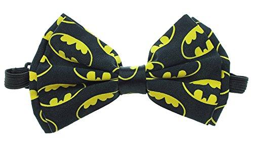 DC Comics Batman Symbols Bow Tie, Black, One Size