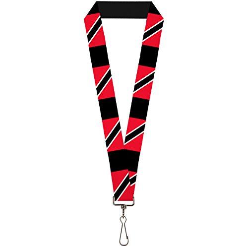 Buckle-Down Lanyard - Trinidad & Tobago Flags/Black Block