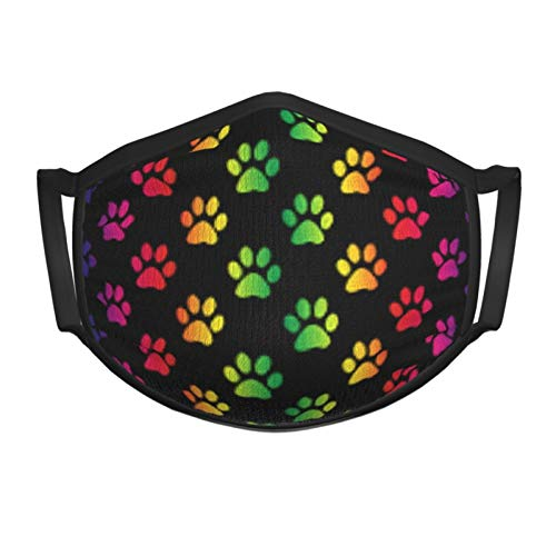 Rainbow Paw Print Kids Face Mask Reusable - Breathable Comfort, Mouth Mask, Machine Washable, Face Masks for Children 5-12 - Youth