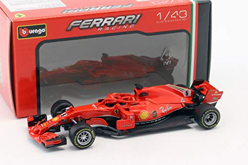 Bburago 15636815V BB 1:43 Ferrari 2019 Formula 1# 5 Driver Sebastian Vettel, Mehrfarbig
