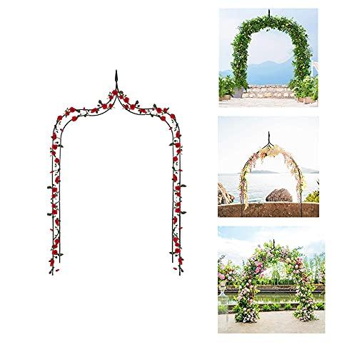 HJZY Arco de Rosas Trepadoras, Decoración Soporte Jardín Arco, Arcos de Jardín de Hierro, Ayudar A Escalada Plantas Pérgola, para Soporte Rosas Escalada Archway