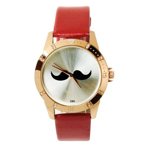 SSITG Reloj Cuarzo Barba Reloj de Pulsera Reloj Trend Blogger Retro Vintage Watch Regalo Gift ss00153