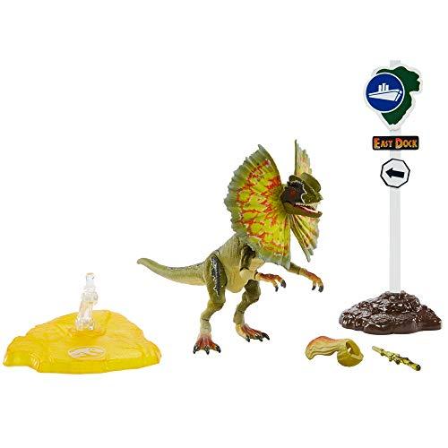 Jurassic World GPG93 - Jurassic World Amber Collection Dilophosaurus, Spielzeug ab 8 Jahren
