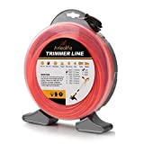 Anleolife 1-Pound Commercial Square .080-Inch-by-557-ft String Trimmer Line Donut,with Bonus Line Cutter, Orange