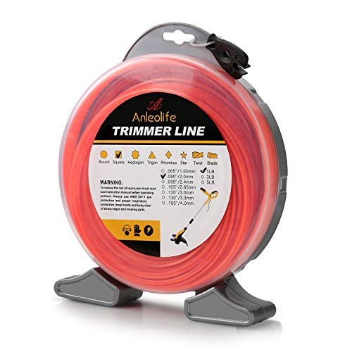 A ANLEOLIFE 1-Pound Commercial Square .080-Inch-by-557-ft String Trimmer Line Donut
