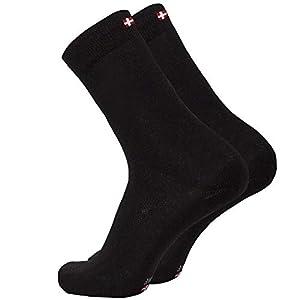 DANISH ENDURANCE Calcetines de Lana Merino, para Hombre y Mujer, Calcetines Clásicos de Vestir, Cómodos, Transpirables, para el Uso Diario, Negro, Pack de 1