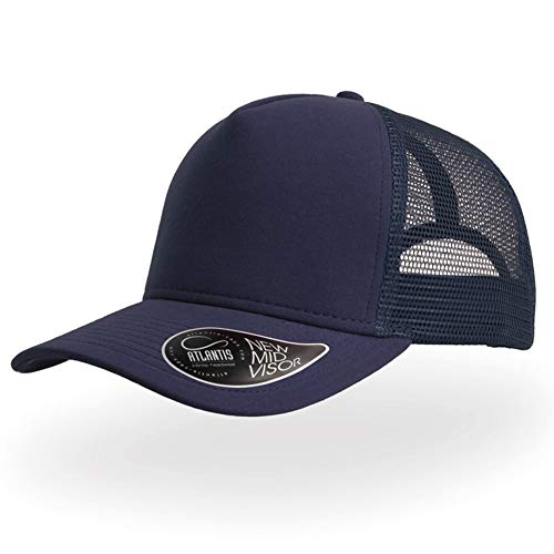 Atlantis Unisex Baseball Cap Sommer Baumwolle Truckercap Outdoor Sport Mütze Schwarzblau