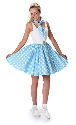 Generique - Disfraz años 50 Azul Claro Mujer M