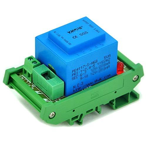 Electronics-Salon Módulo de transformador de potencia de montaje en riel DIN de 5 vatios (VA) (in: 230VAC, Salida: 24VAC)