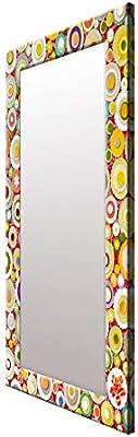 999Store Printed Multi dot Flower Pattern Mirror