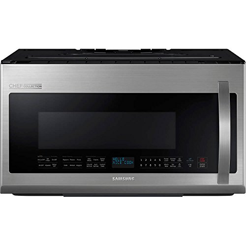 Samsung ME21H9900AS Chef Collection 2.1 Cu. Ft. Stainless Steel Over-the-Range MIcrowave