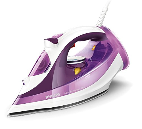 Philips Azur Performer Plus GC4515/30 Steam iron SteamGlide Plus soleplate 2400W Purple,White iron - irons (Steam iron, SteamGlide Plus soleplate, 2 m, 180 g/min, Purple, White, 45 g/min)