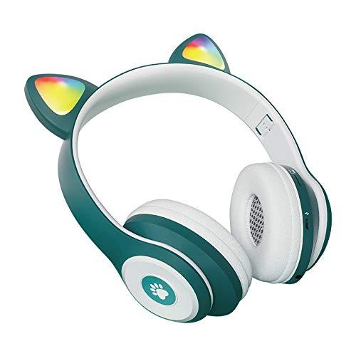 COLTD Cat Ear Headset CT-930 Luminous Cute Cat Ear Bluetooth Headphones Stereo Card Headset