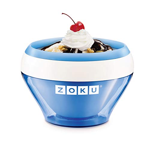 Zoku Ice Cream Maker, Compact Make and Serve Bowl with Stainless Steel Freezer Core Creates Soft Serve, Frozen Yogurt, Ice...