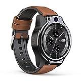 XYJ LEM14 Smart Watch, 4G Global IP68 50M Pulsera Inteligente Impermeable, 1.6'Pantalla Redonda Completa 4G + 64G 8MP + 5MP Cámara Dual 1100mAh Android 10 Multi función SmartWatch Teléfono