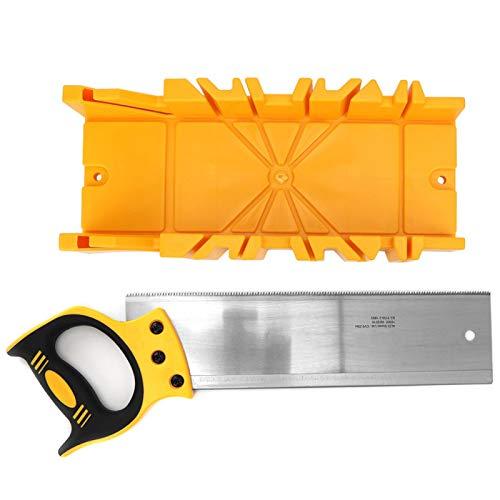 Caja de inglete de sierra, caja de inglete de sujeción de ángulo múltiple de plástico ABS de 12 pulgadas con sierra trasera de 14 pulgadas