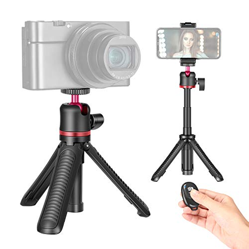 Neewer Smartphone Selfie Stick Tripod Stand, Extendable Rod Handle Grip Vlog Pole with 360°Ball Head, Remote and Phone Clip Compatible with iPhone/Android/Mirrorless Camera/Webcam/Action Camera