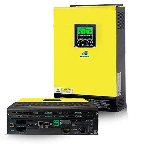 Inversor Solar 5.5KW 48v híbrido Regulador 500Vdc MPPT 90A con máxima Entrada de Panel Solar...