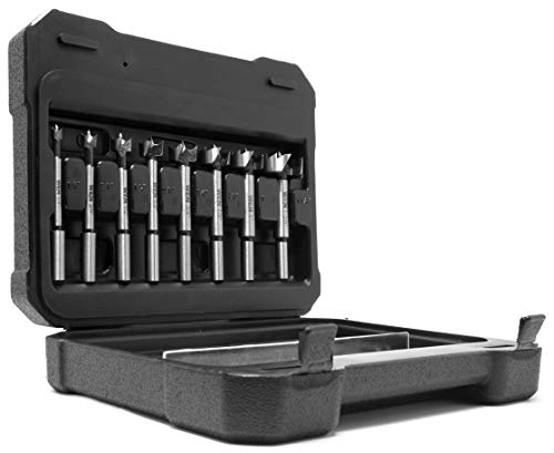 WEN FB3508 8-Piece Forstner Bit Set with Carrying Case