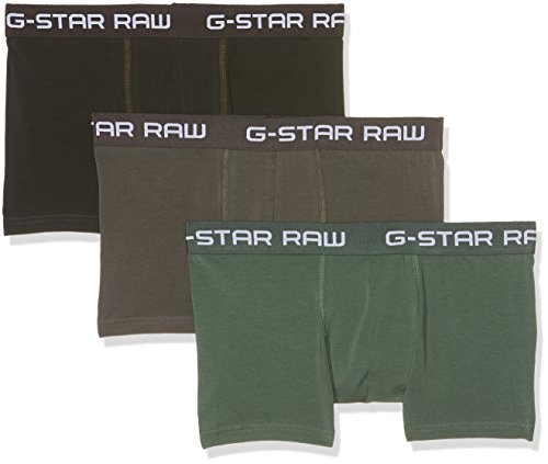 G-STAR RAW Classic Trunk Clr 3 Pack Pantalones Cortos, Multicolor (GS Grey/Asfalt/Bright Jun 8529), X-Small para Hombre