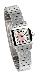 Cartier Women's W25075Z5 Santos Demoiselle Pink Mother of Pearl Watch Sale and For Sale and review