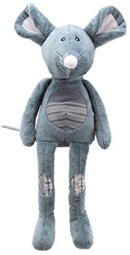 Lashuma Plüschtier Kuschelmaus Grau, Stofftier Maus mit Schlenker Armen und Beinen, Kuscheltier Mäuschen Größe 32 cm