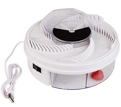 Windhager elektrisch Fly Catcher, Fliegen-und Insektenvernichter, Fliegenfänger mit USB-Anschluss, automatische Fliegenfalle, 03255, weiß