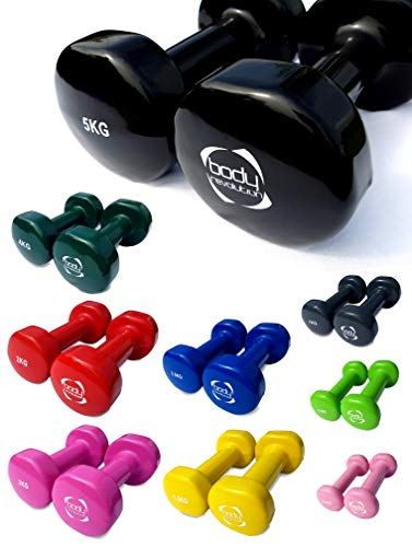 Body-Revolution-Hand-Weights--Vinyl-Coated-Dumbbells-for-Women-and-Men--Small-Hand-Held-Weights--Sold-in-Pairs-or-as-a-Full-Set