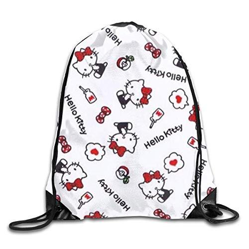 Hello Kitty - Bolsa con cordón con estampado de bolsos de hombro