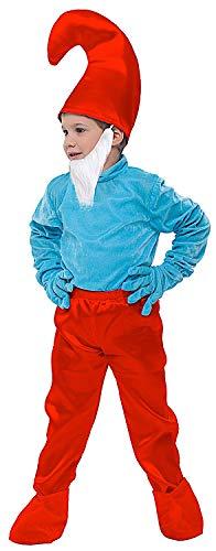 COSTUME di CARNEVALE da GRANDE FOLLETTO vestito per bambino ragazzo 1-6 Anni travestimento veneziano halloween cosplay festa party 52335 Taglia 3
