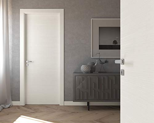 Porta BIANCO 3 D matrix con telaio e mostre WATER RESISTENT (80x210 Sinistro)